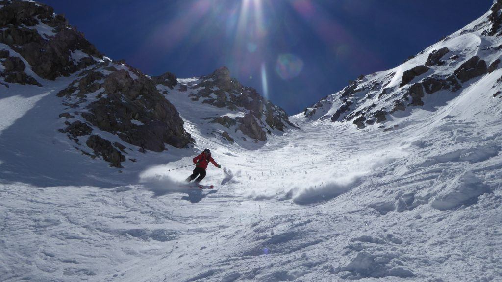 Rich skiing Pisteurs Couloir Val D I'sere