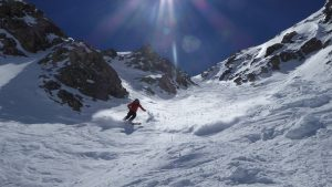 Steep skiing Pisteurs couloir tignes val D'sere