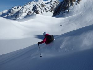 Amy having fun in the powder