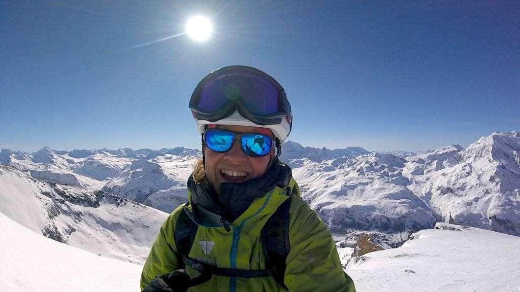 ski touring summit rocher de la davie